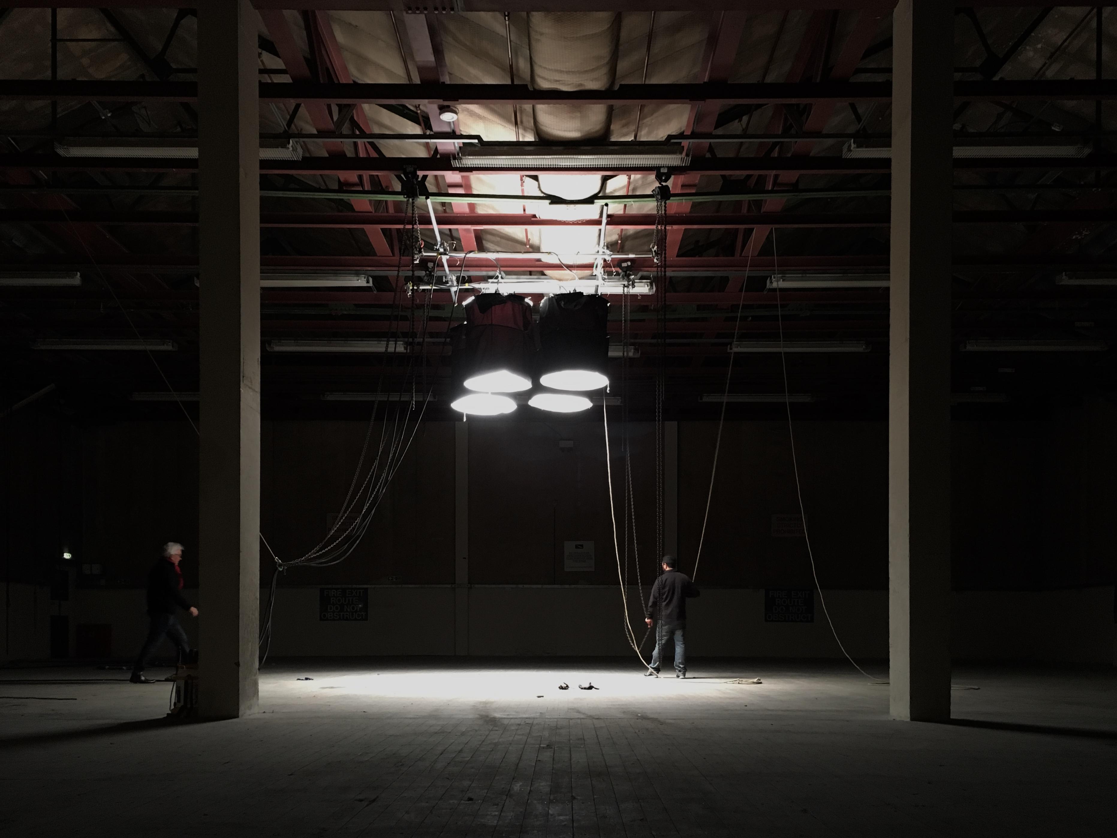 Pre-lighting at Pinewood